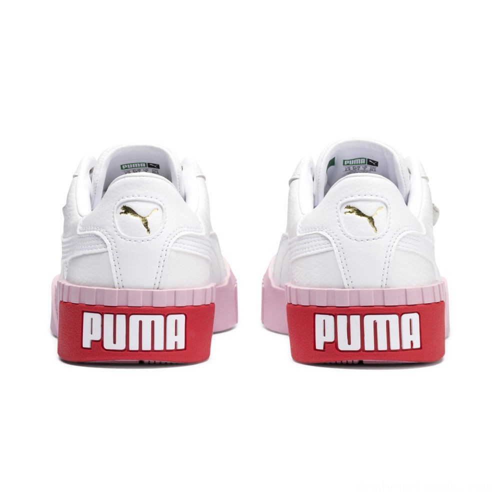 Puma Cali Women's Sneakers White-Pale Pink Outlet Sale