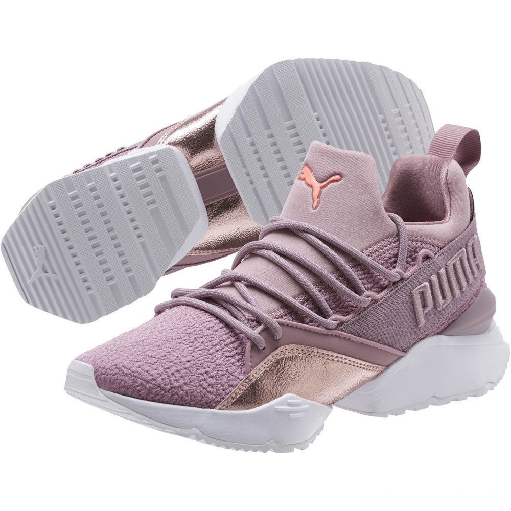 Puma Muse Maia Bio Hacking Women's Sneakers Elderberry-Bright Peach Outlet Sale