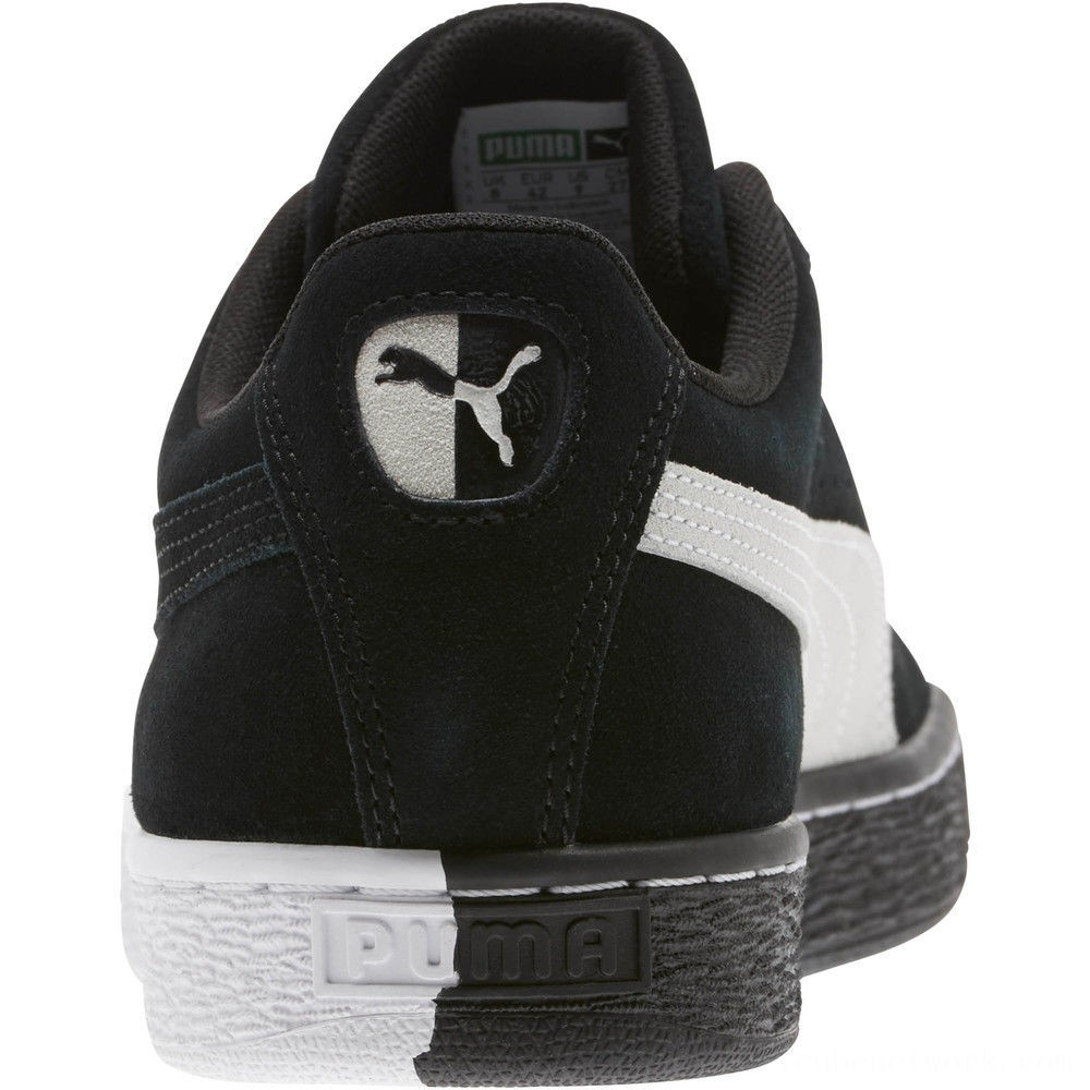 """Black Friday 2020 Puma Suede Classic """"Other Side"""" Sneakers Black- White Outlet Sale"""
