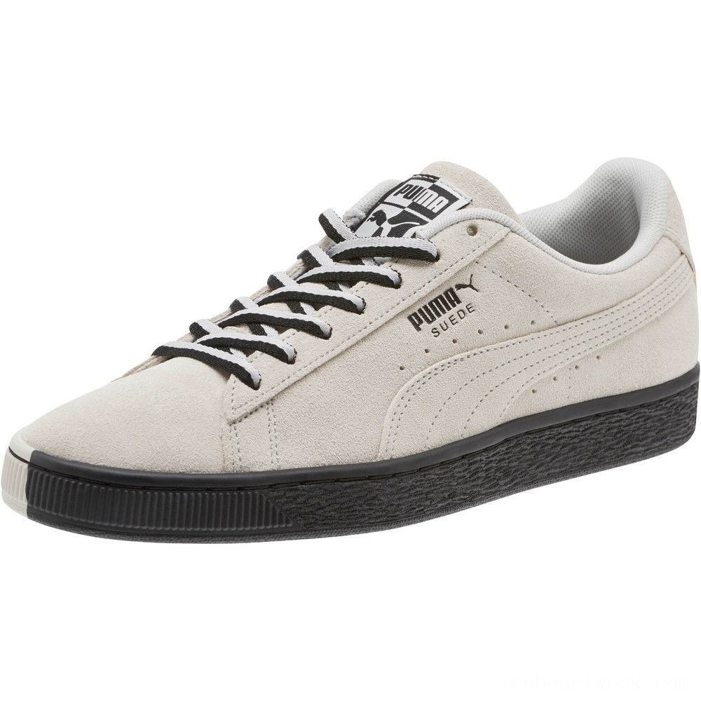 """Black Friday 2020 Puma Suede Classic """"Other Side"""" Sneakers Glacier Gray- Black Outlet Sale"""