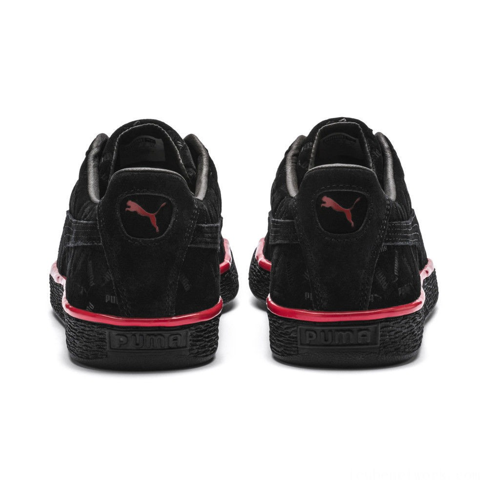 Black Friday 2020 Puma Suede Classic Lux Sneakers Black-High Risk Red Outlet Sale