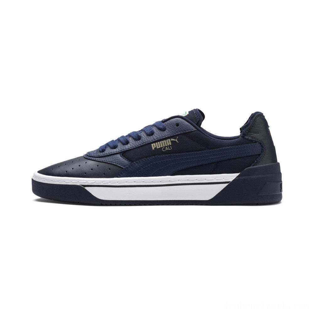 Black Friday 2020 Puma Cali-0 Sneakers Peacoat- White-Peacoat Outlet Sale