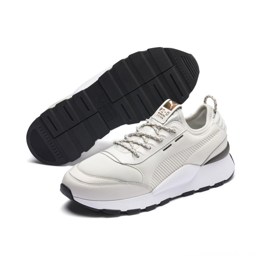 Puma RS-0 TrophyVaporous Gray- White Outlet Sale