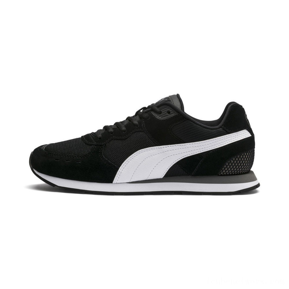 Black Friday 2020 Puma Vista Sneakers Black-White-Charcoal Gray Outlet Sale