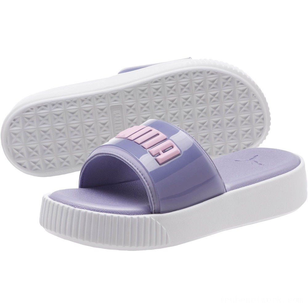 Black Friday 2020 Puma Platform Fashion Women's Slide Sandals Sweet Lavender- White Outlet Sale