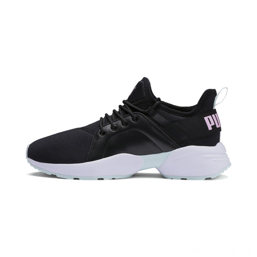 Black Friday 2020 Puma Sirena Trailblazer Women's Sneakers Black-Fair Aqua Outlet Sale
