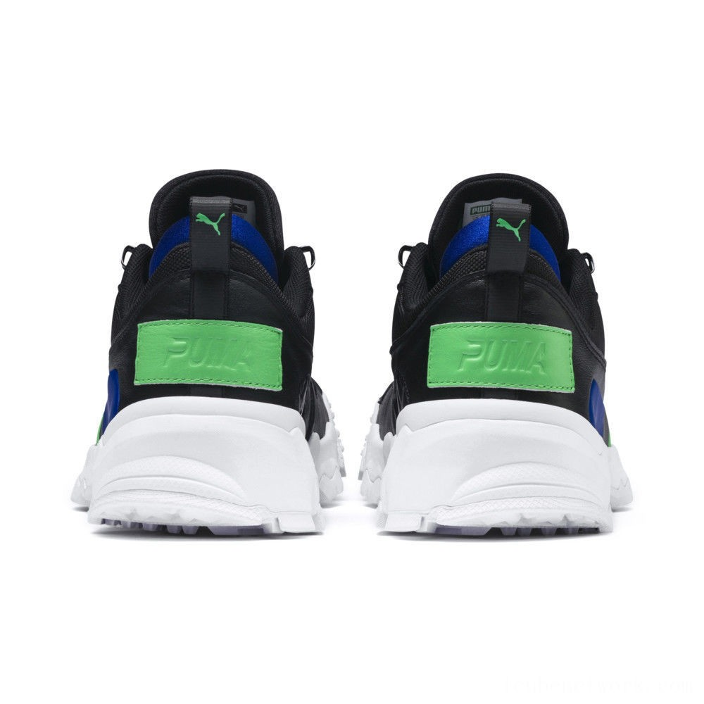 Black Friday 2020 Puma Trailfox Leather Sneakers Black-Irish Green Outlet Sale