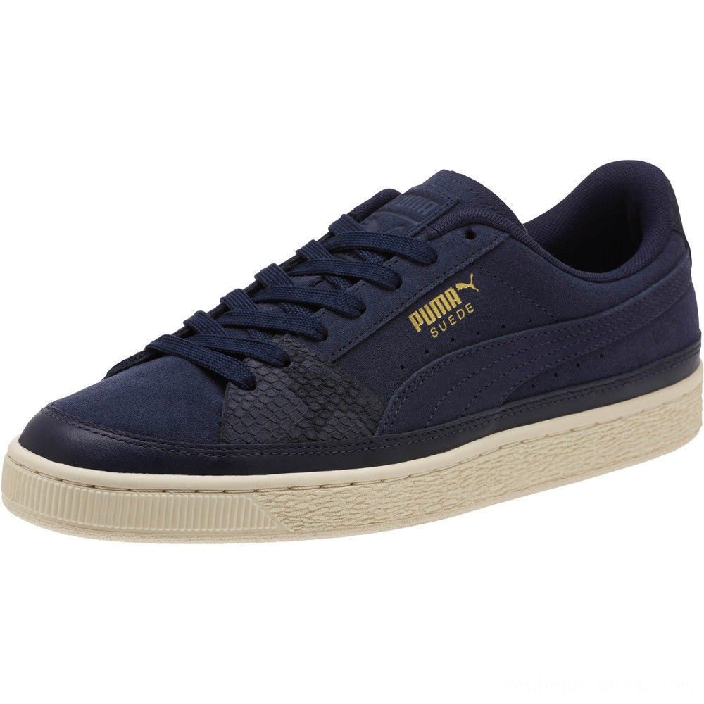 Black Friday 2020 Puma Suede Skate Premium Sneakers Peacoat-Whisper White Outlet Sale