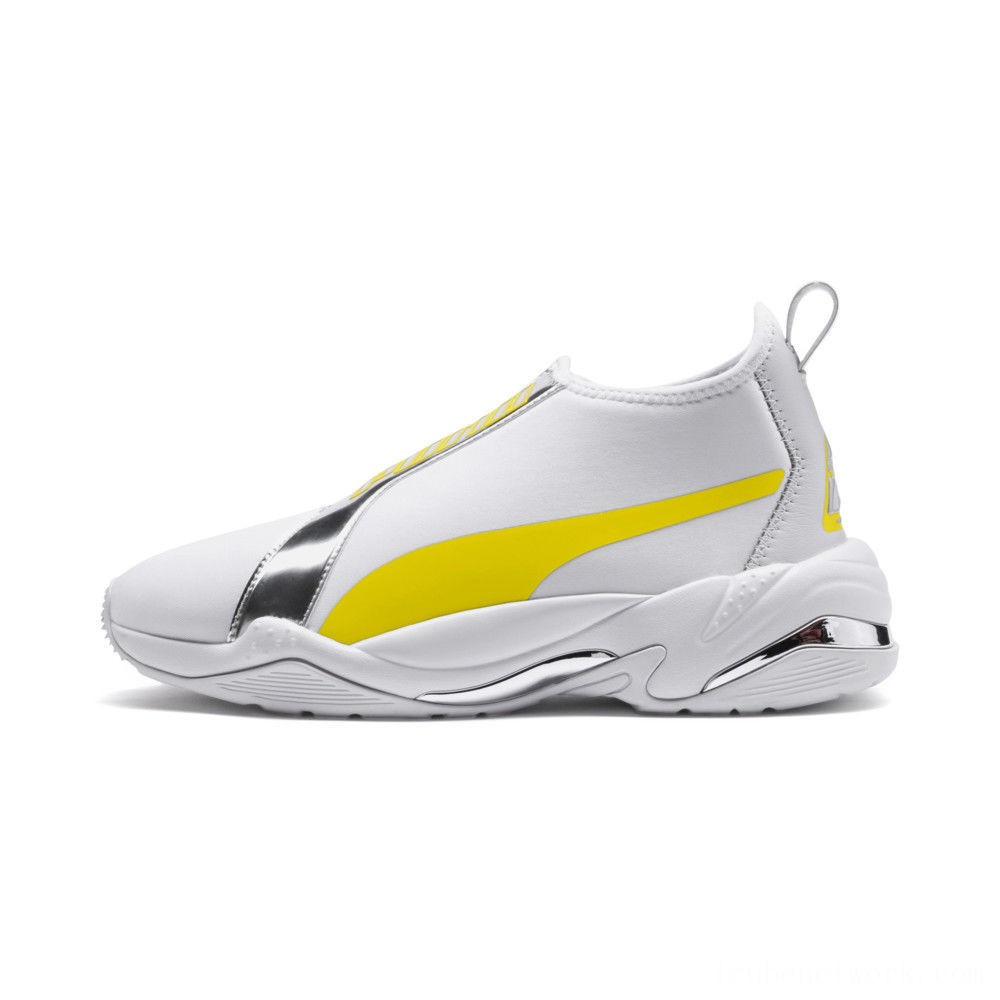 Black Friday 2020 Puma Thunder Trailblazer Metallic Women's Sneakers White-Blazing Yellow Outlet Sale