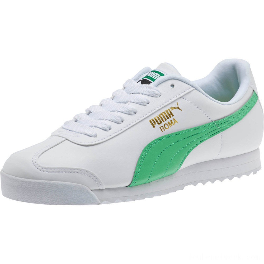 Puma Roma Basic + Sneakers White-Irish Green Outlet Sale