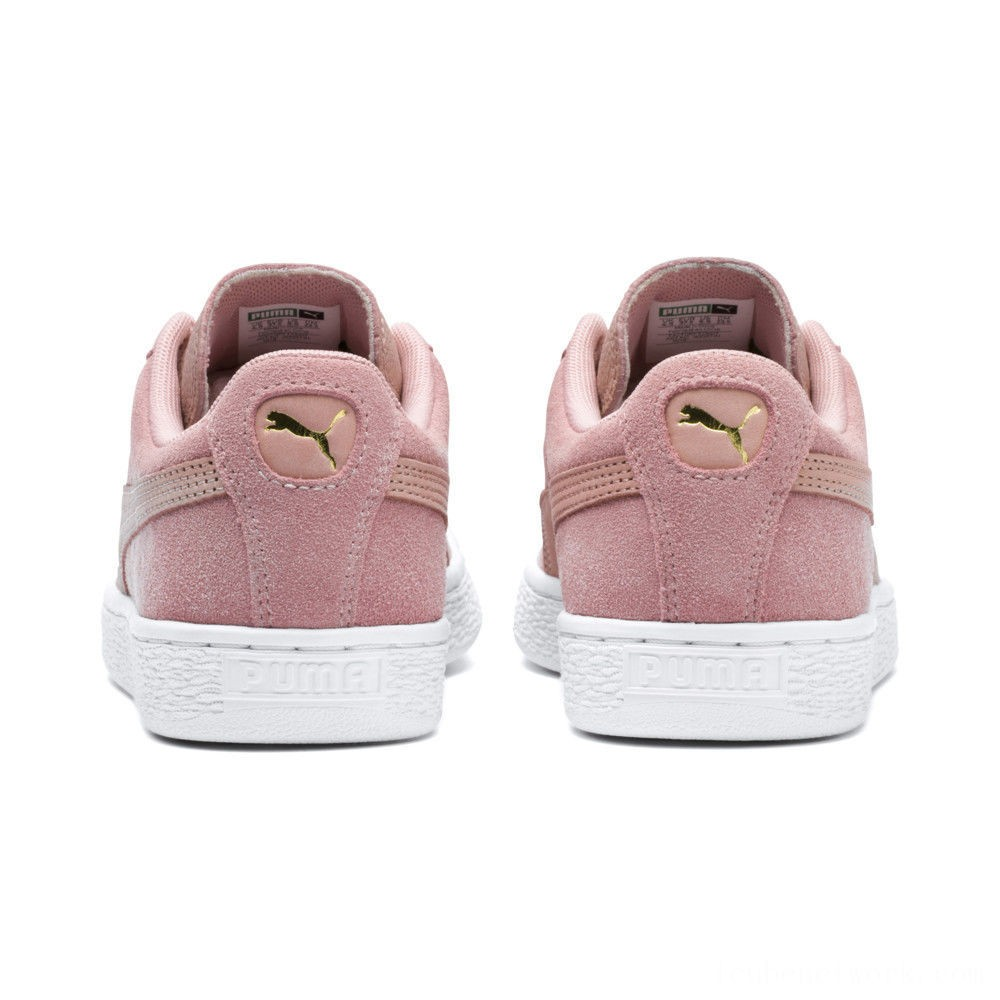 Black Friday 2020 Puma Suede Shimmer Women's Sneakers Bridal Rose- White Outlet Sale