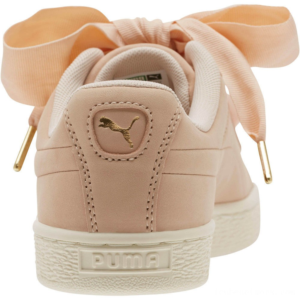 Black Friday 2020 Puma Basket Heart Soft Women's Sneakers Cream Tan-Marshmallow Outlet Sale