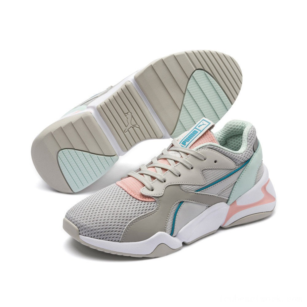 Puma Nova Mesh Women's Sneakers Gray Violet-Peach Bud Outlet Sale