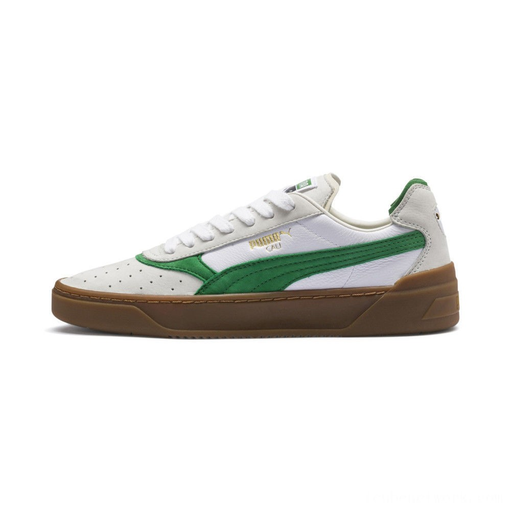 Puma Cali-0 Vintage Sneakers White-Amazon Green-Gum Outlet Sale