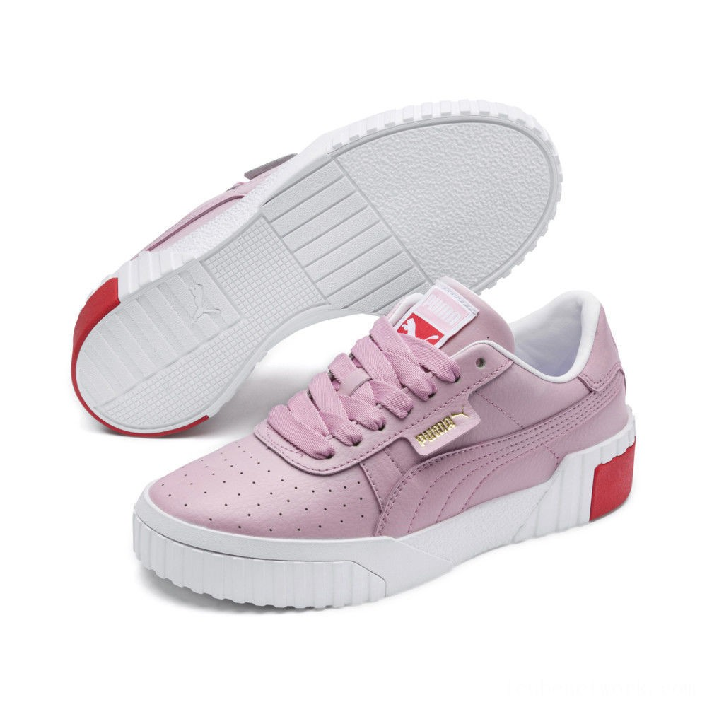 Black Friday 2020 Puma Cali Sneakers PS White-Hibiscus Outlet Sale