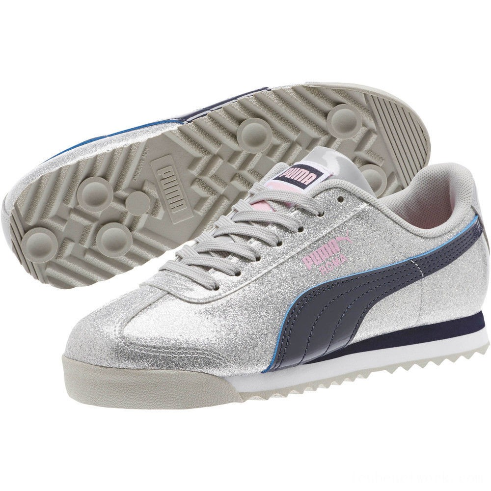 Black Friday 2020 Puma Roma Glam Sneakers JRGray Violet-Peacoat Outlet Sale