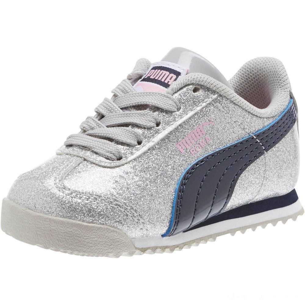 Black Friday 2020 Puma Roma Glam INF Sneakers Gray Violet-Peacoat Outlet Sale