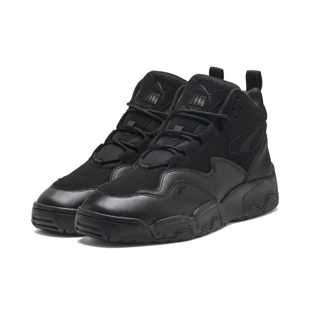Black Friday 2020 Puma Source Mid Sneakers Black Outlet Sale