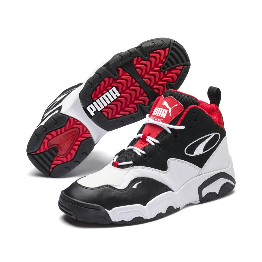 Black Friday 2020 Puma Source Mid Sneakers Black- White-High Risk Red Outlet Sale