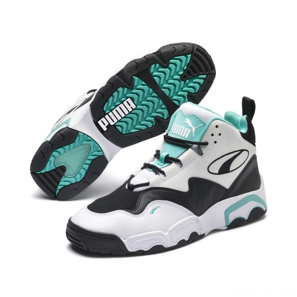 Black Friday 2020 Puma Source Mid Sneakers White- Black-Blue Outlet Sale