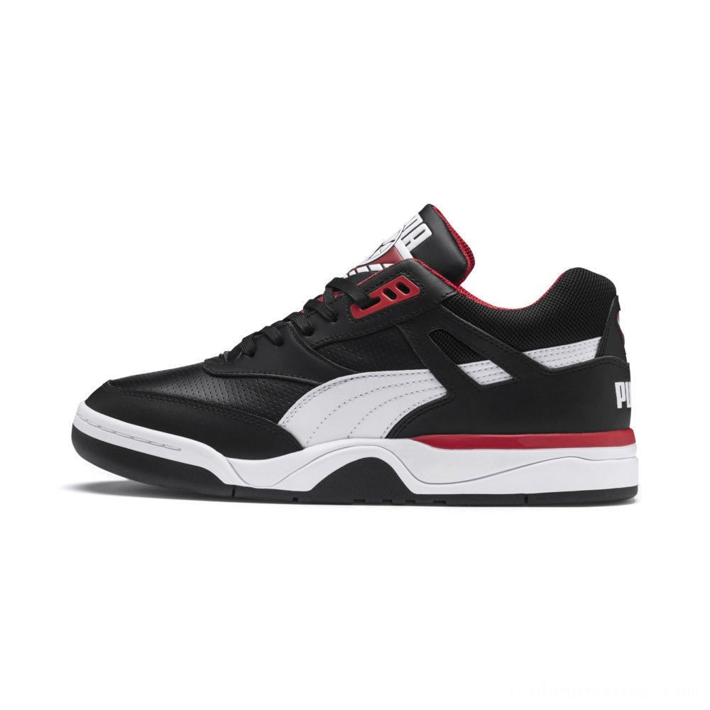 Puma Palace Guard Men's Sneakers Black- White-red Outlet Sale