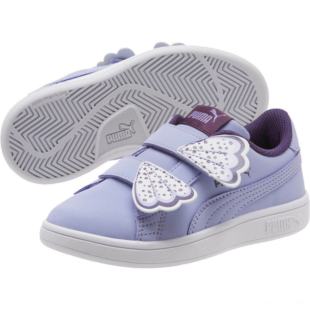 Puma Puma Smash v2 Butterfly AC Sneakers PSSweet Lavender-Indigo-White Outlet Sale