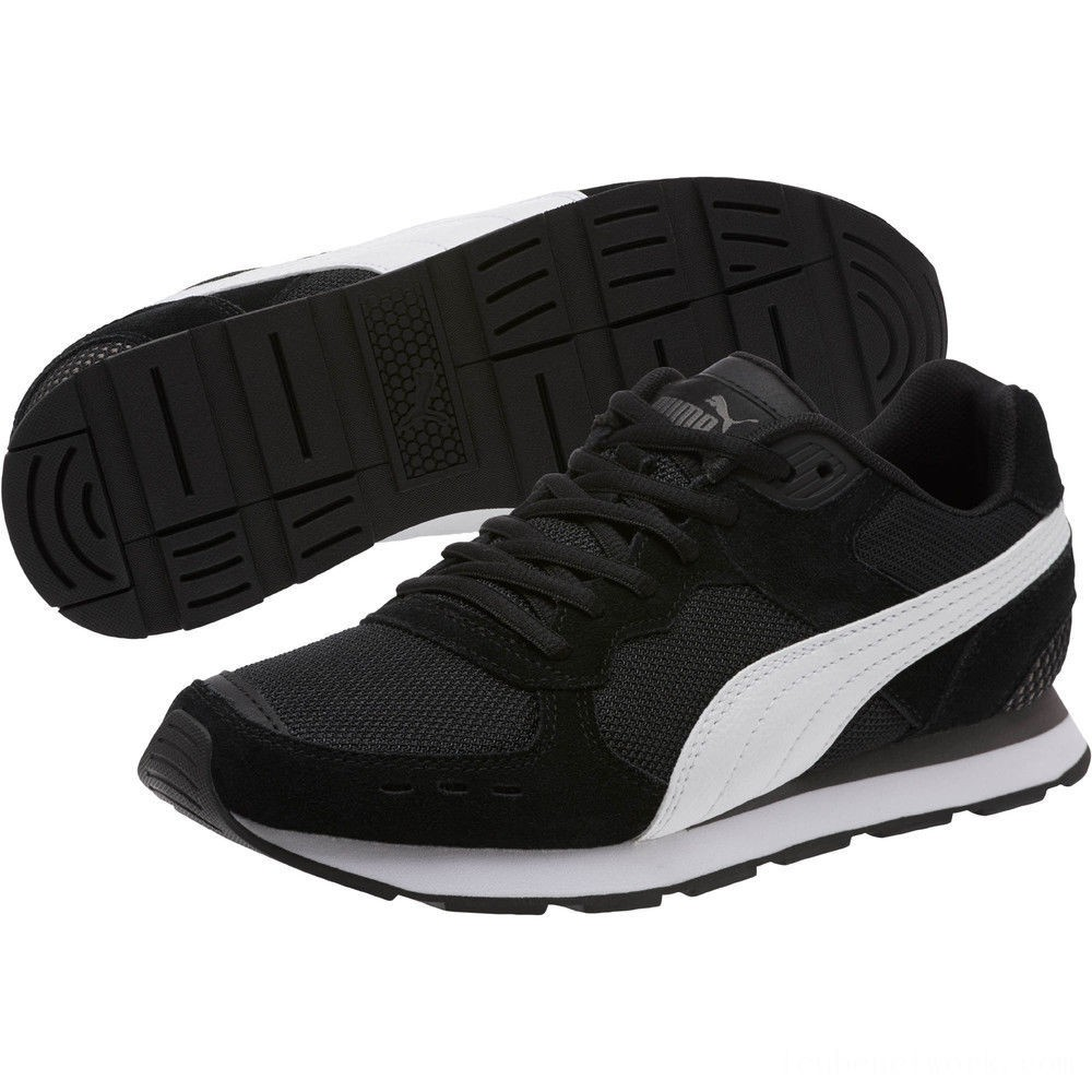 Black Friday 2020 Puma Vista Women's Sneakers Black-White-Charcoal Gray Outlet Sale