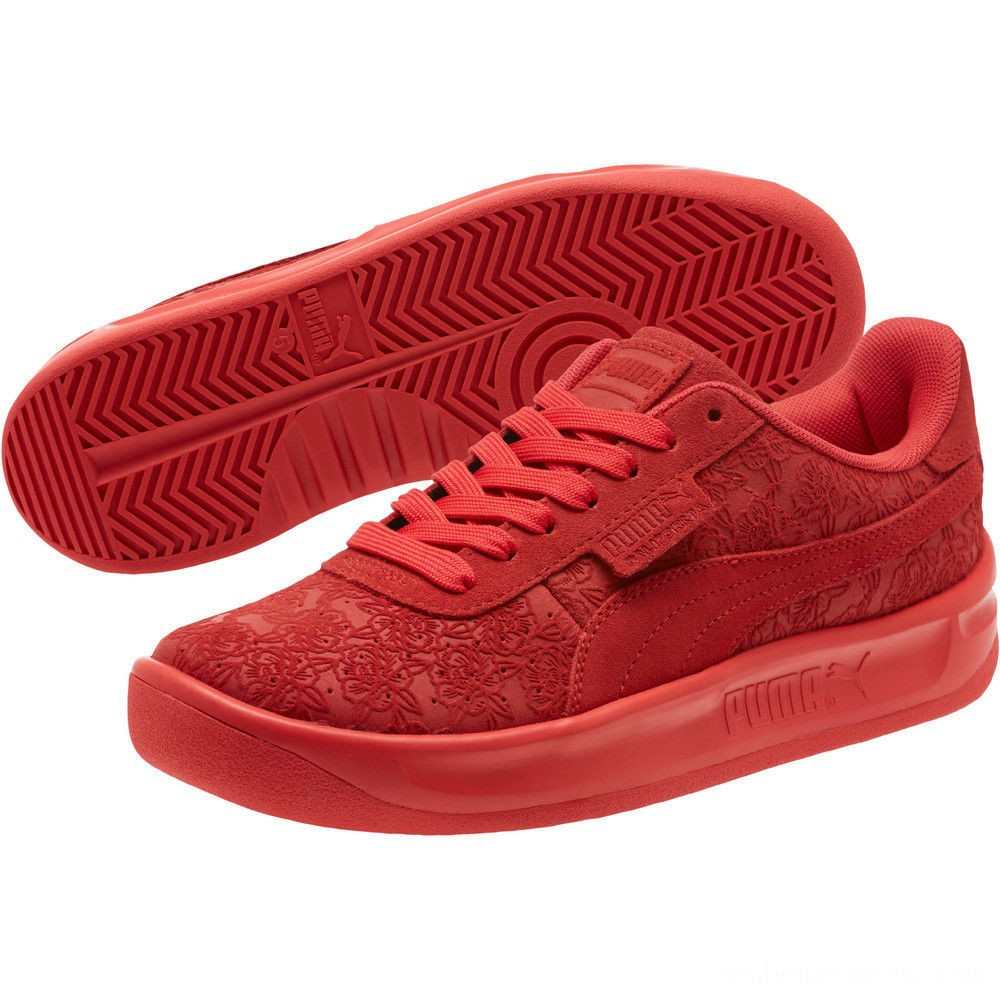 Black Friday 2020 Puma California Embossed Floral Women's Sneakers Hibiscus Outlet Sale