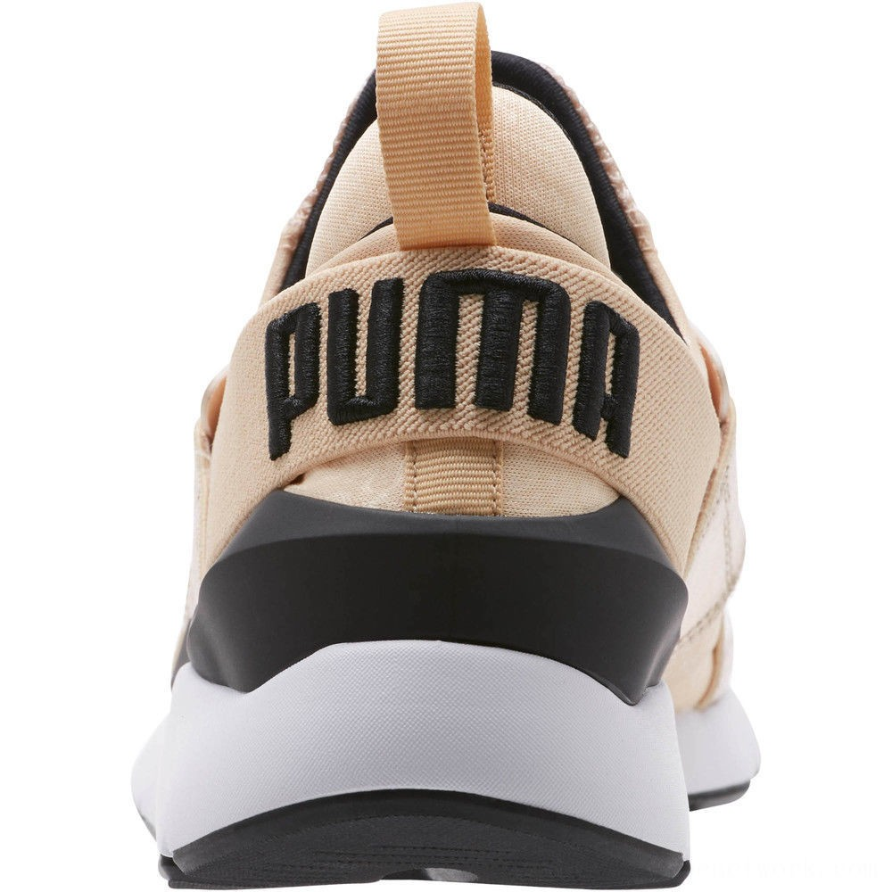 Black Friday 2020 Puma Muse Metallic Women's Sneakers Natural Vachetta- Black Outlet Sale