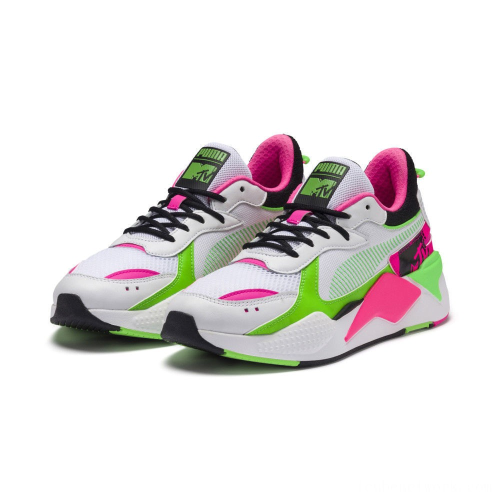 Puma RS-X Tracks MTV Bold Sneakers White- Black-802 C Outlet Sale