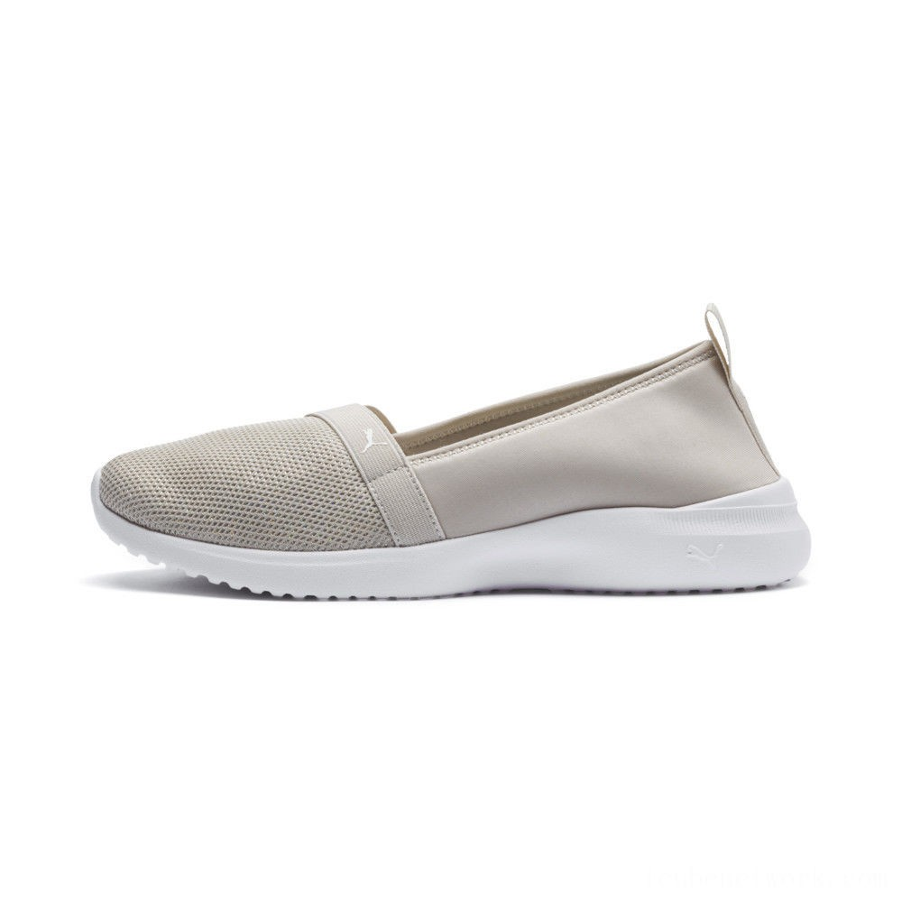 Puma Adelina Sparkle Women's Ballet Shoes Silver Gray- White Outlet Sale