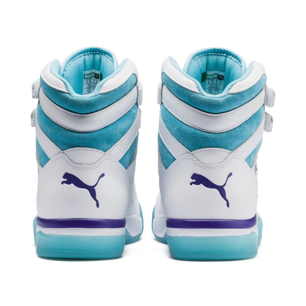 Puma Palace Guard Mid Queen City Sneakers White-Blue Atoll Outlet Sale