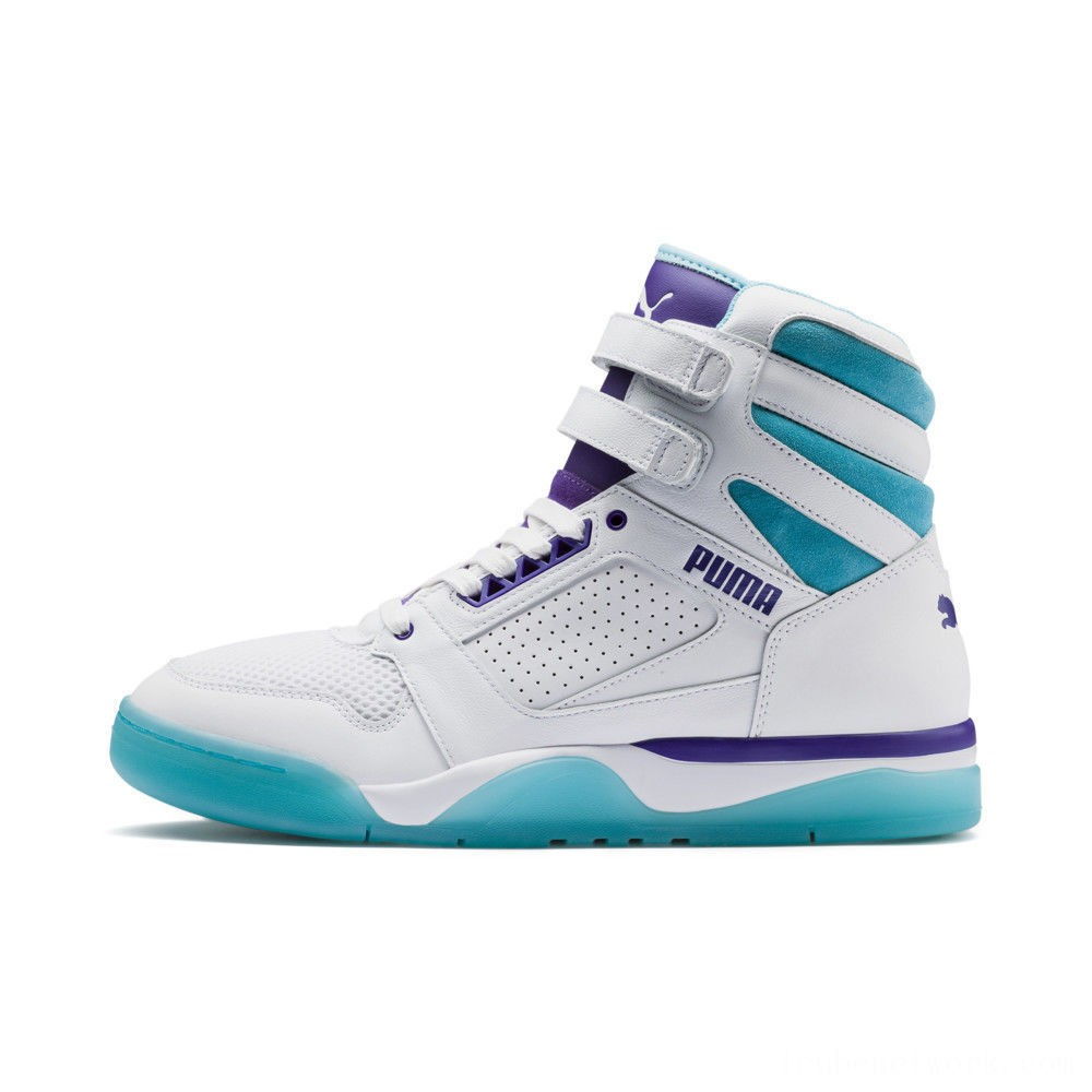 Black Friday 2020 Puma Palace Guard Mid Queen City Sneakers White-Blue Atoll Outlet Sale