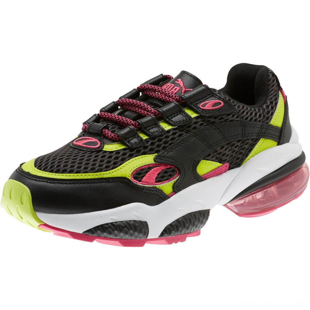 Puma CELL Venom Fresh Mix Women's Sneakers Black-Limepunch Outlet Sale